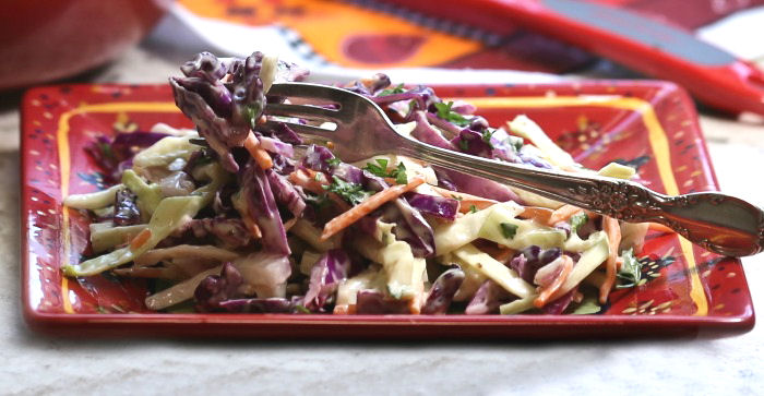 Tasting Southern style coleslaw