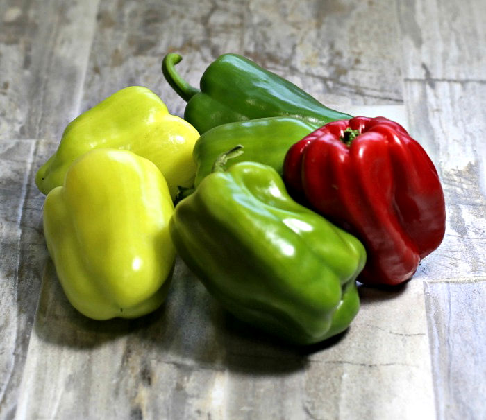 Sweet colorful bell peppers