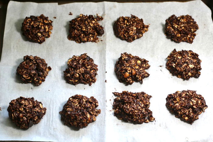 Making no bake cookies