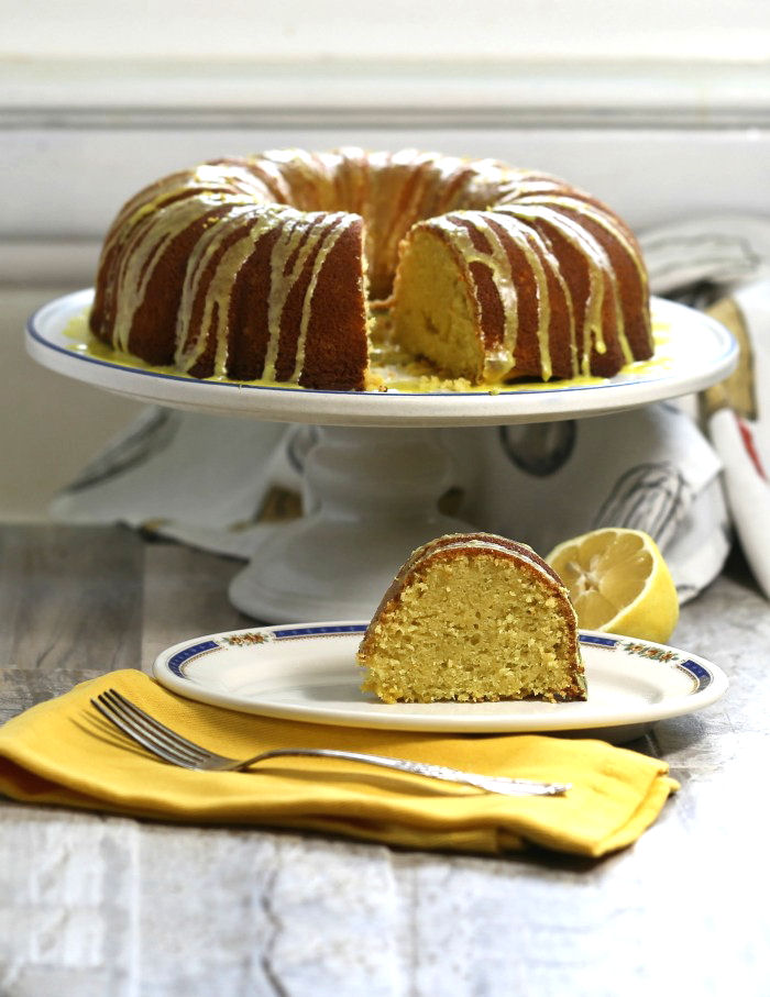 Lemon Pudding Bundt Cake Recipe With A Lemon Glaze Icing