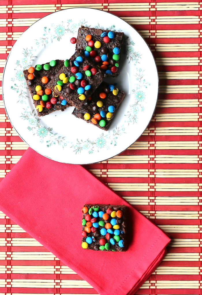 These easy box mix brownies have just 5 ingredients and are lightened up and so tasty and chewy.