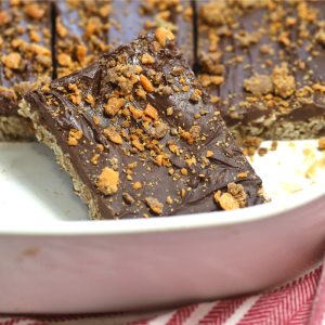 Butterfinger oatmeal bar