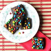 M & M box mix brownies