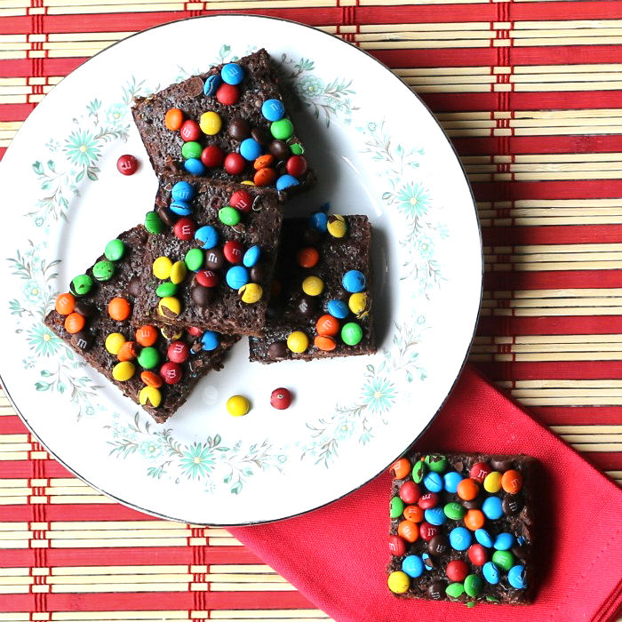 M & M box mix brownies