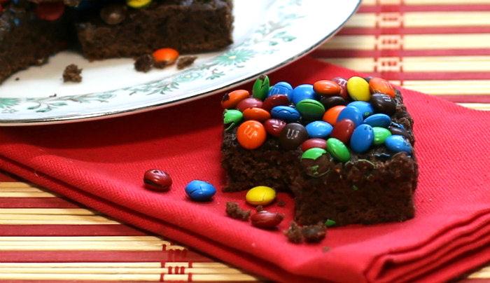 bite of MM brownie