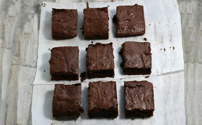 Cut and trim the brownies