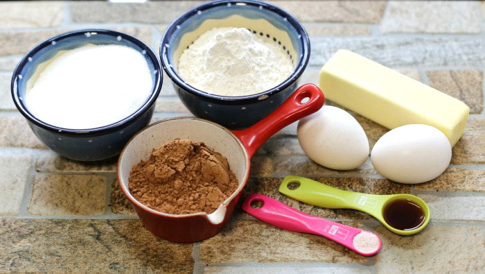 Ingredients for the mummy brownies