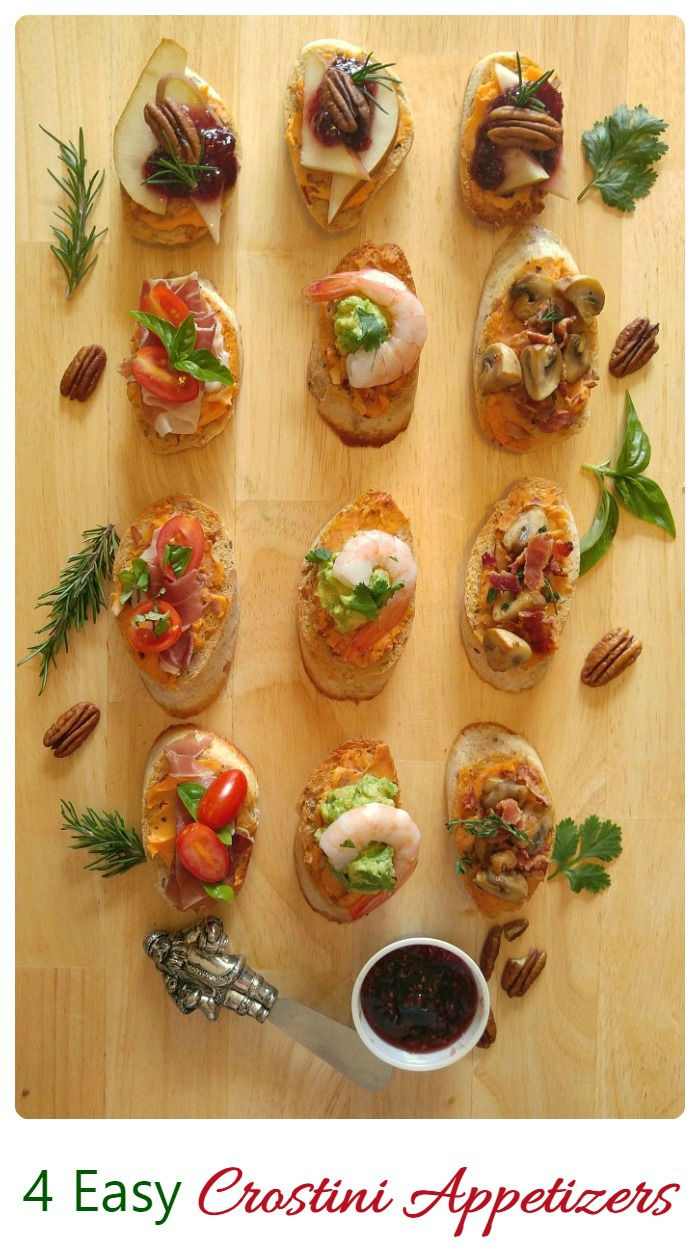 These Easy crostini recipes will make the perfect start to your holiday party