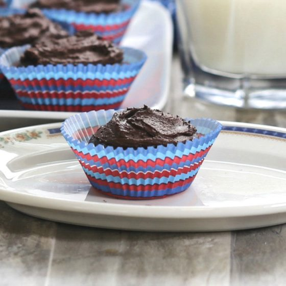 Skinny Dark Chocolate cupcake