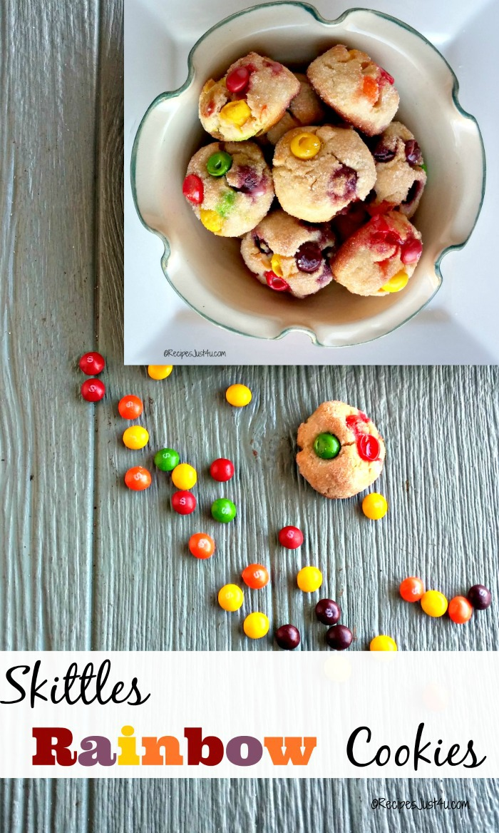Skittles Sugar Cookies - A Rainbow Delight