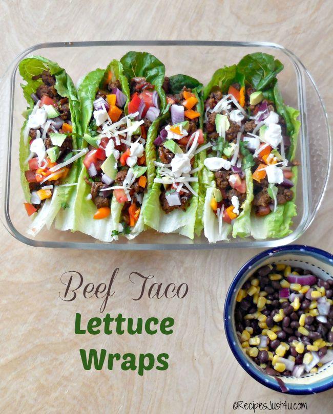 Beef Taco Lettuce Wraps