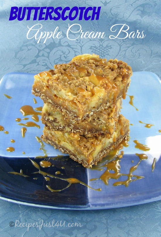 Butterscotch Apple Cream Bars
