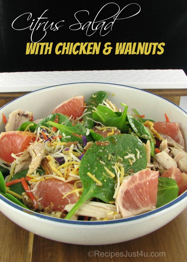 Citrus Salad with Chicken and Walnuts