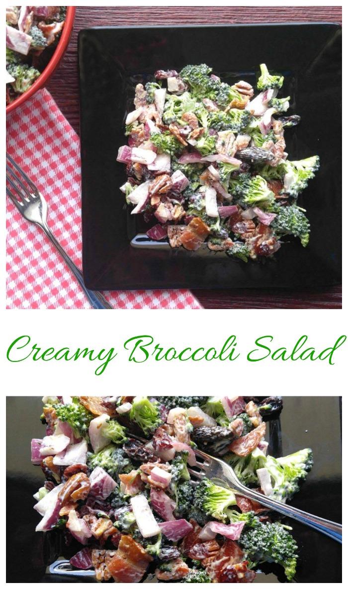 Creamy Broccoli Salad - Great BBQ Side Dish