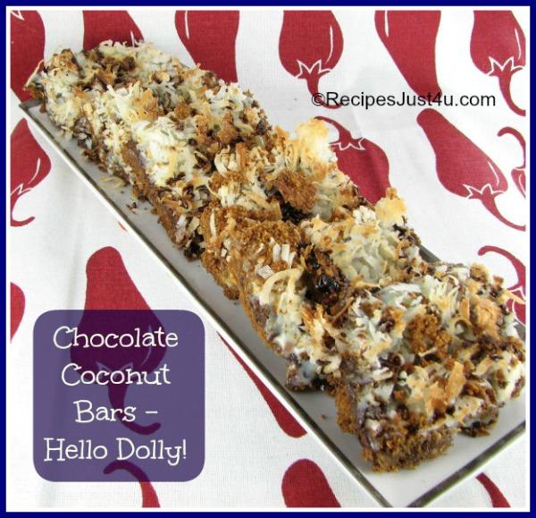 Chocolate Coconut Hello Dolly Bars