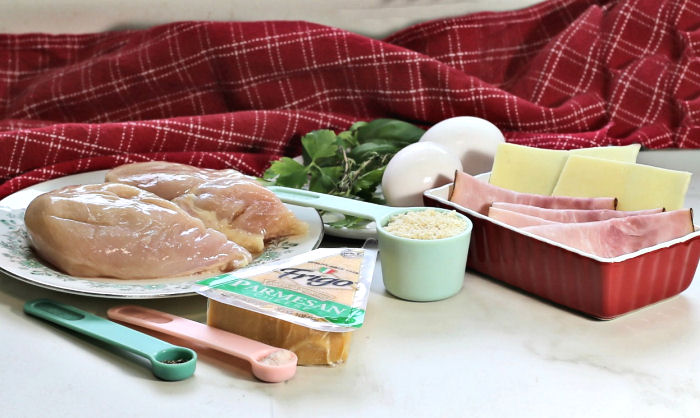 ingredients for chicken cordon bleu