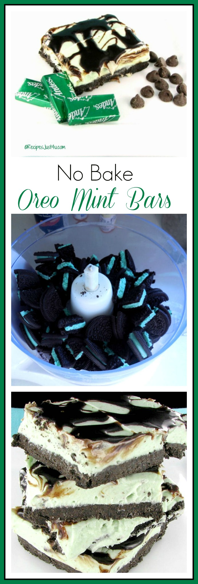 No-Bake Mint Oreo Bars