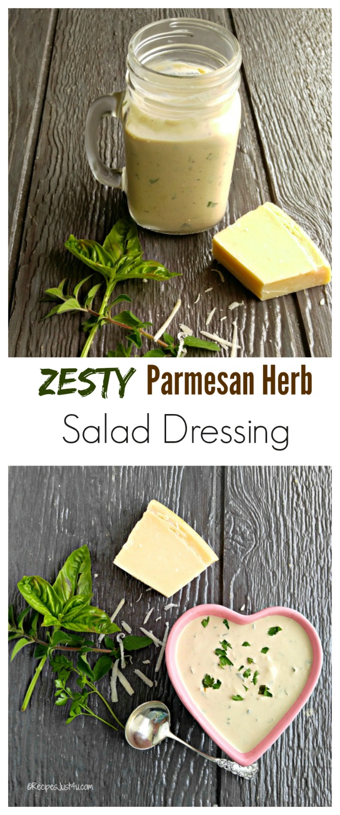 Loaded Salad with Homemade Parmesan Herb Salad Dressing