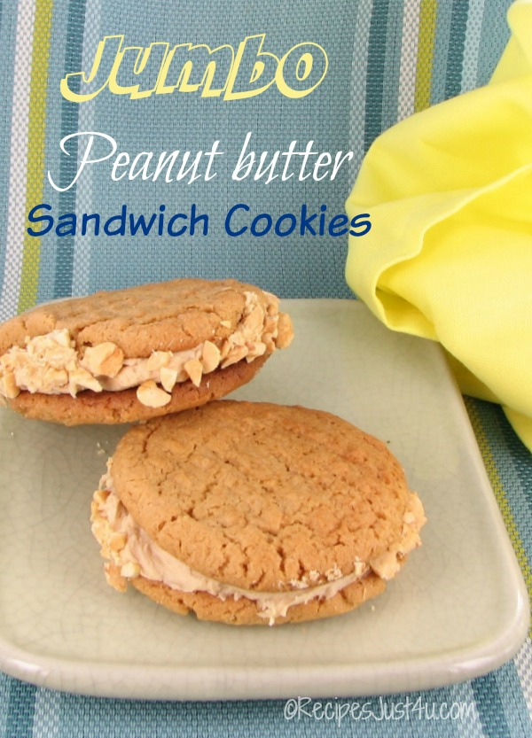 Jumbo Peanut Butter Sandwich Cookies - Not for the timid!