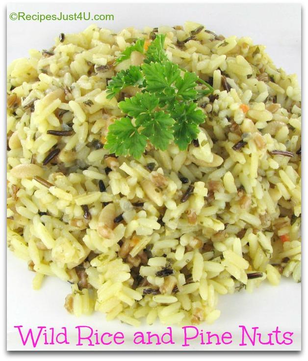Vegan Wild Rice Recipe With Pine Nuts