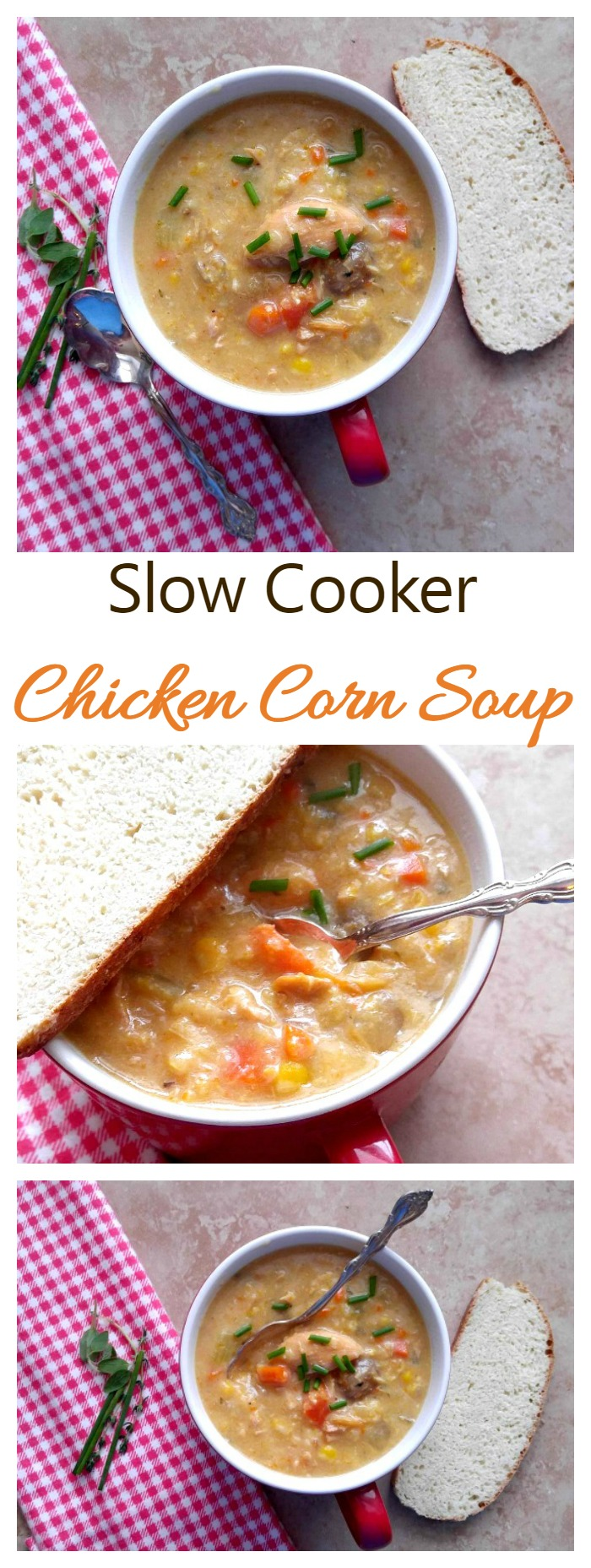 Chicken Corn Soup - A Crock Pot Delight