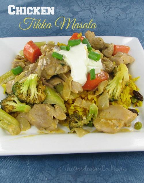 Tikka Masala Chicken and Vegetables