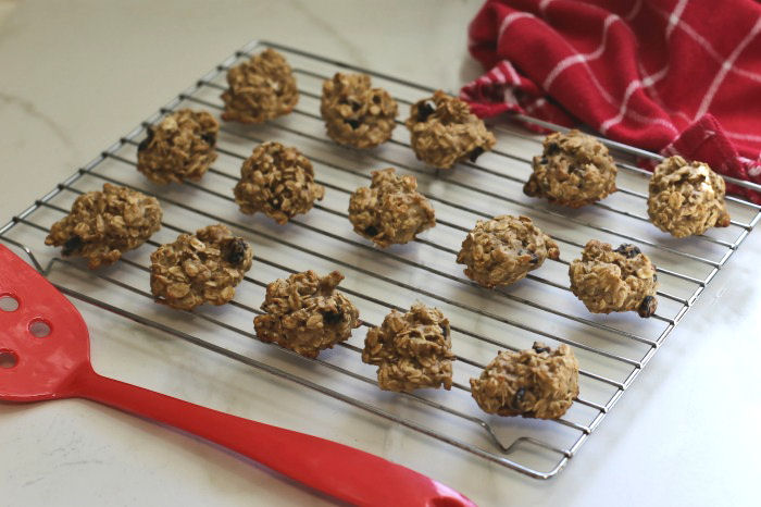 oatmeal cookies on a baking rack