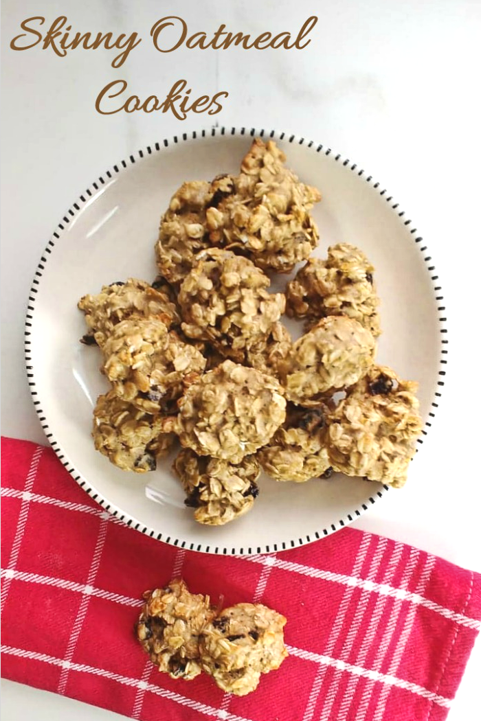 These skinny oatmeal raisin cookies are only 70 calories and 3 WW Smart points each!