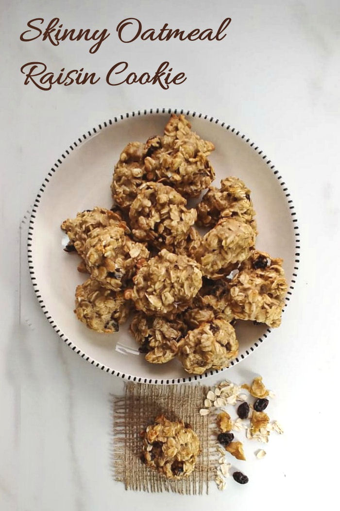 This Skinny oatmeal raisin cookie has only 70 calories and 3 WW smart points!