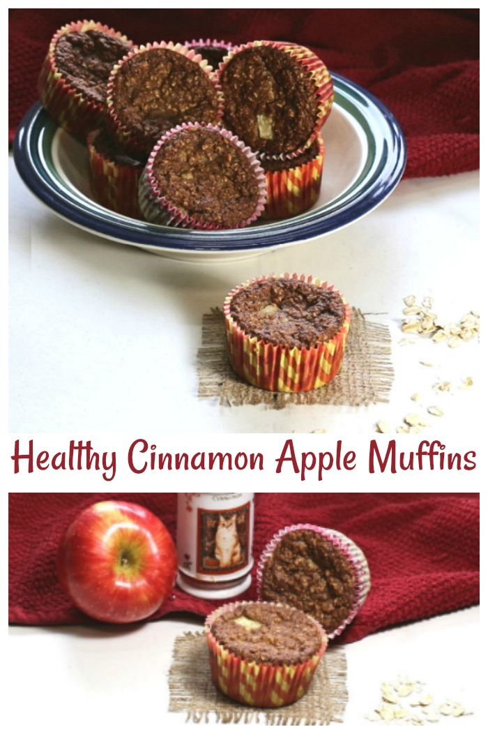 These healthy cinnamon apple muffins are gluten free, low in calories and only 2 WW Freestyle points.