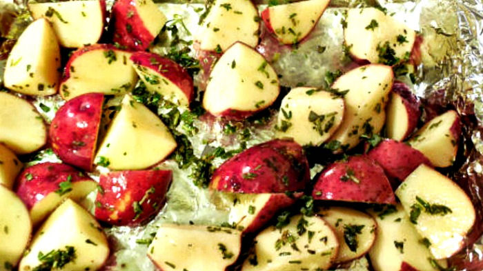Roasting red potatoes