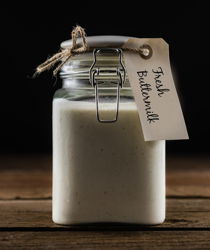 fresh buttermilk in a jar