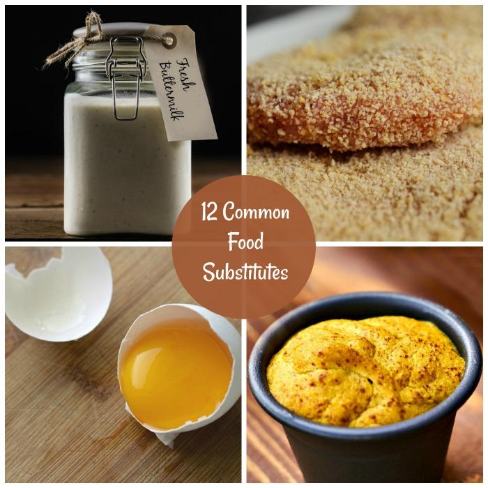 12 Common Food Substitutes