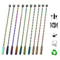 Stainless Steel Coffee Beverage Stirrers Multicolored