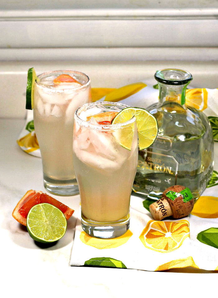tequila and grapefruit just makes a Paloma cocktail