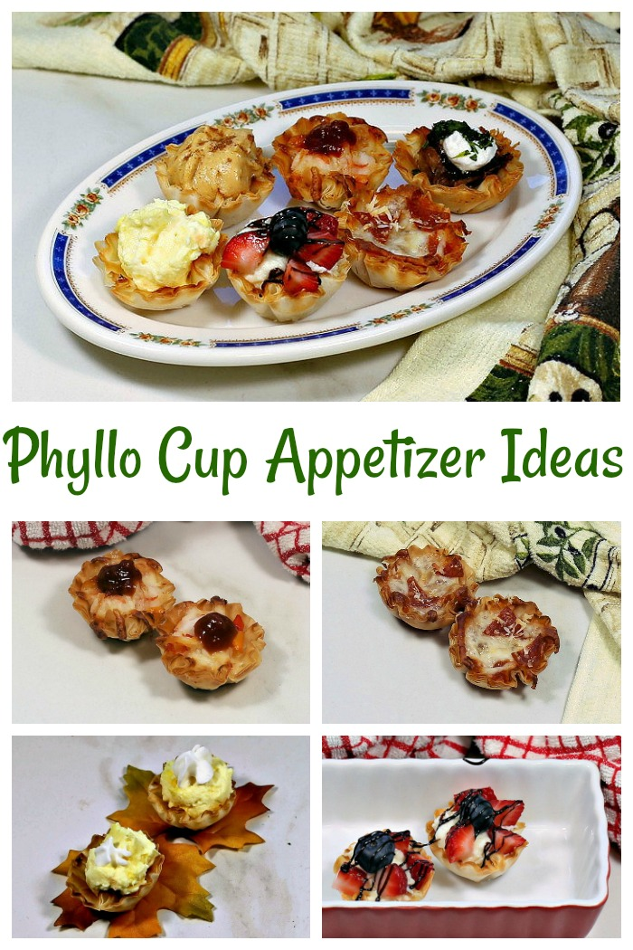 Get lots of phyllo cup appetizer ideas that are ready in just minutes.