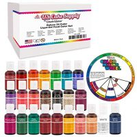 24 Color Cake Food Coloring Liqua-Gel Decorating Baking Primary Secondary Colors Deluxe Set