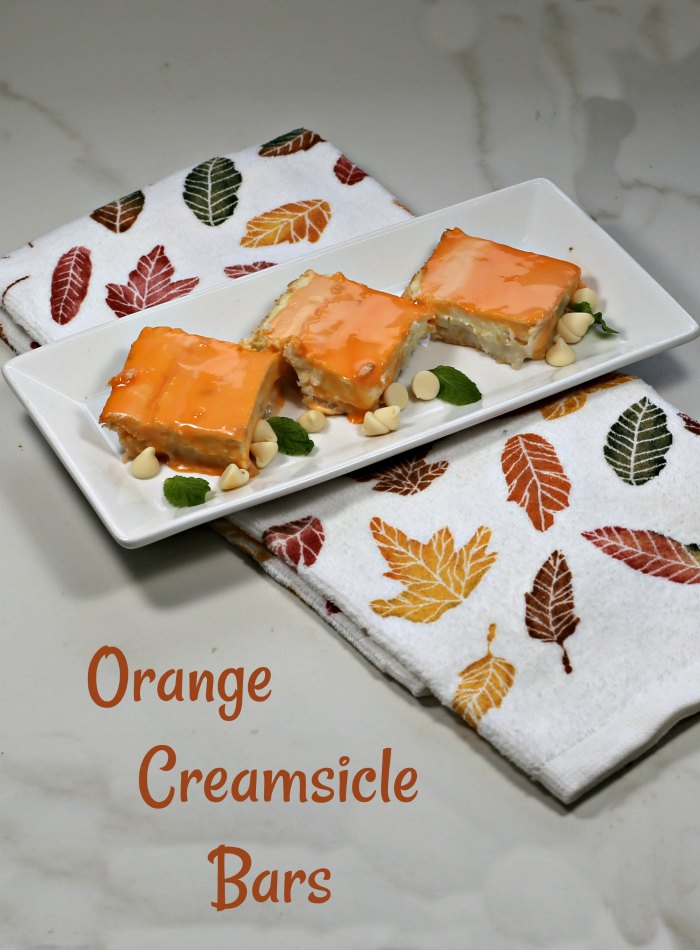 Yummy orange creamsicle bars for your holiday dessert table