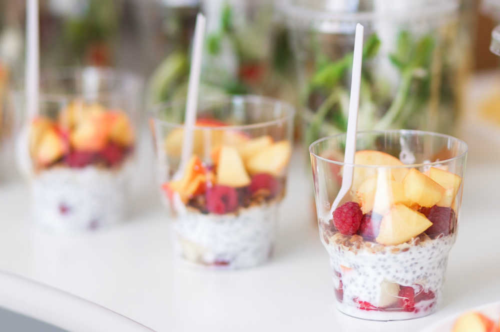 Summer desserts ideas - Mini parfaits in individual containers.